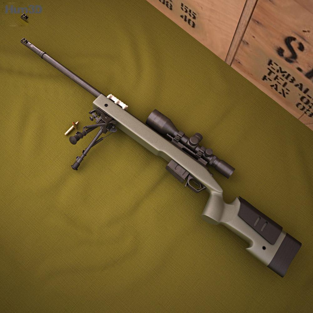 Remington M40A5 Modèle 3d