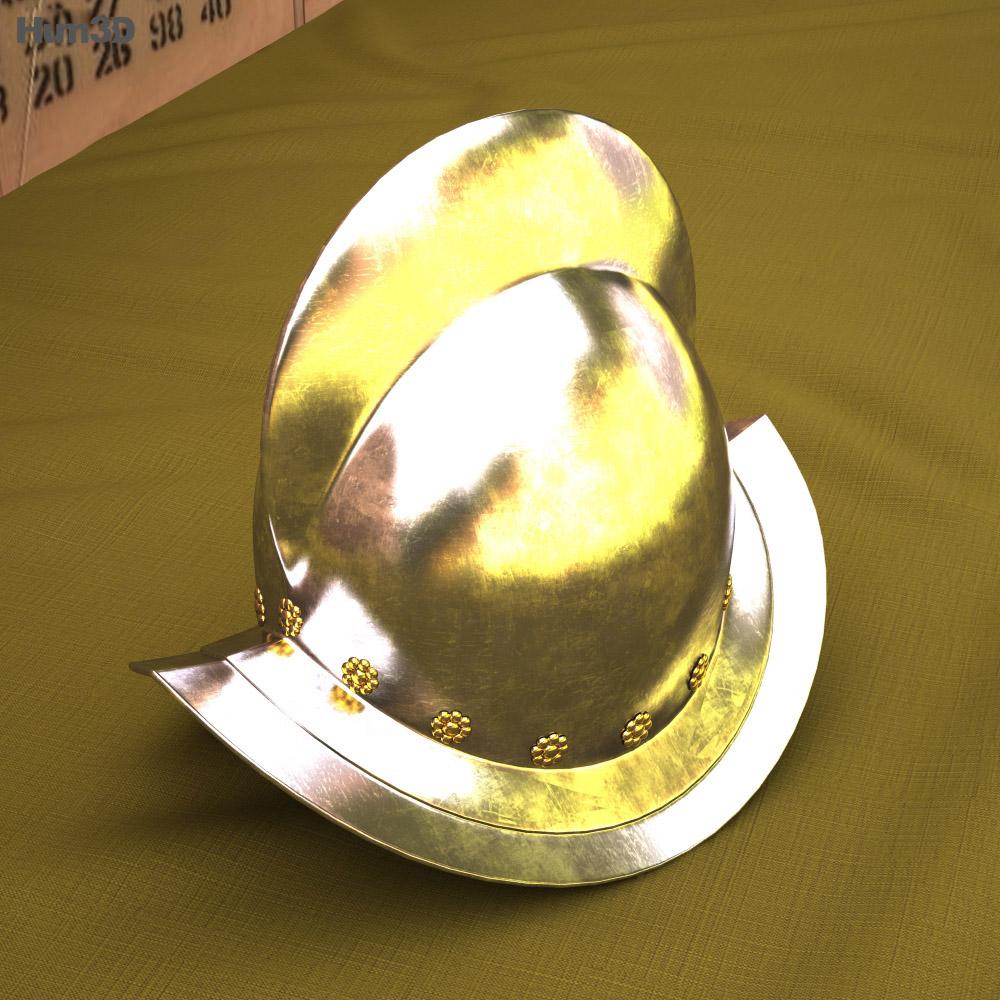 Morion helmet 3d model