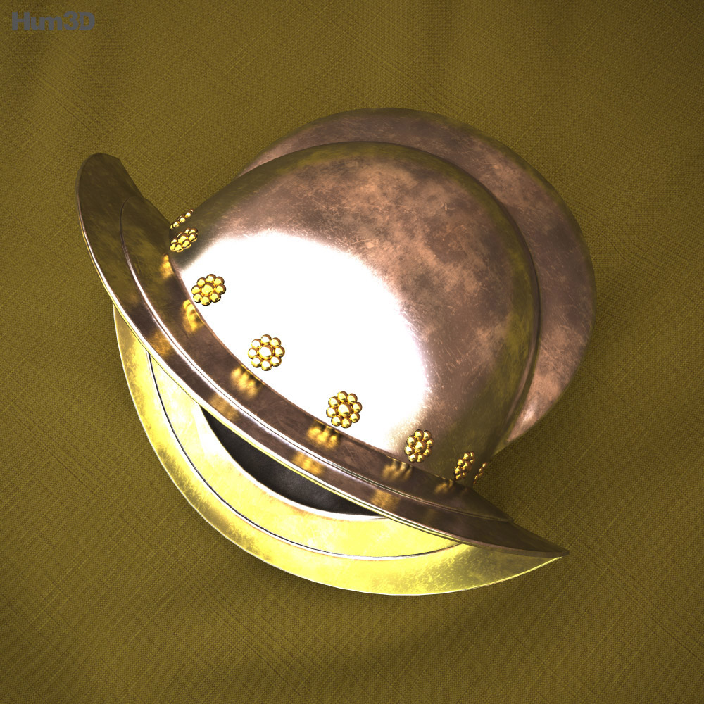 Morion helmet 3d model