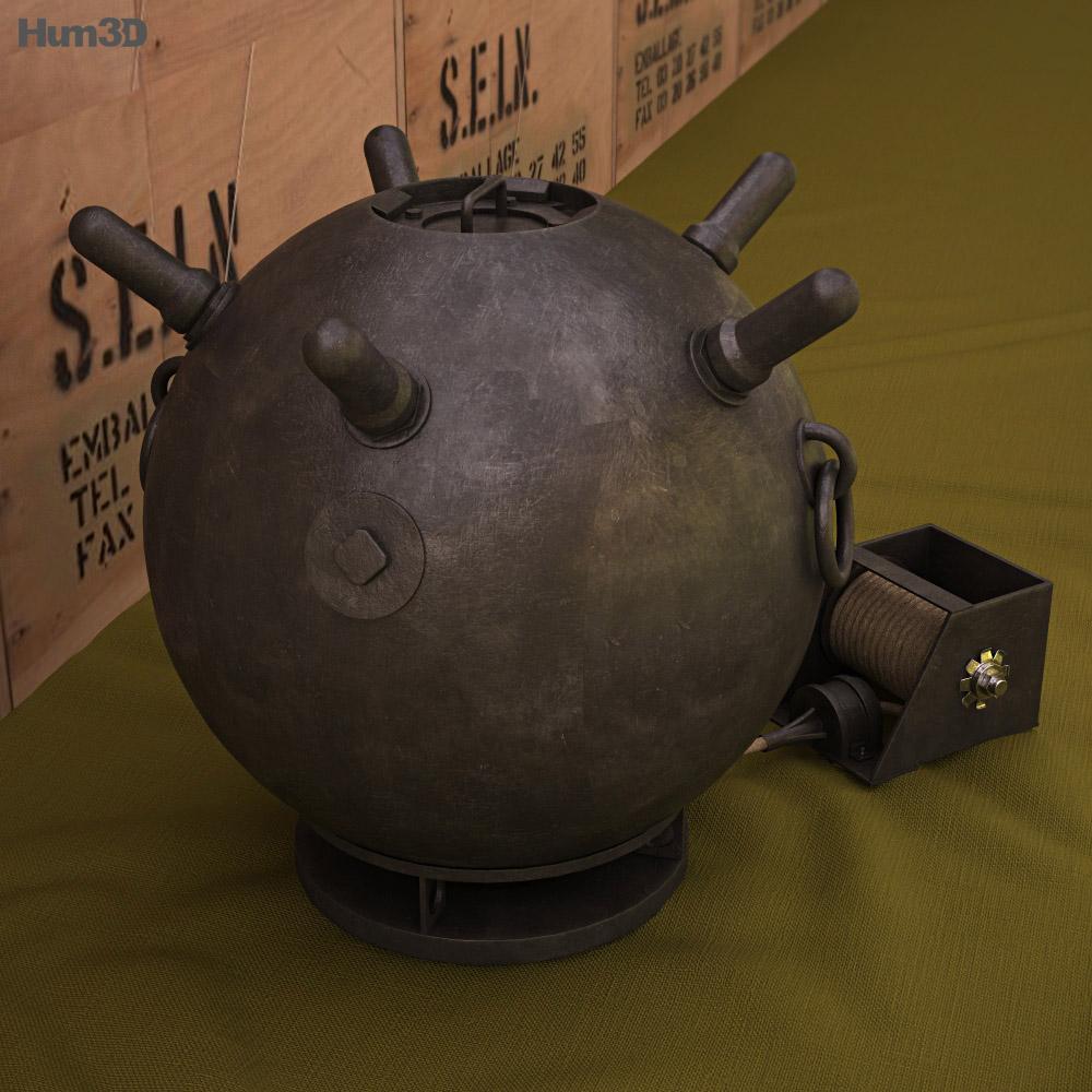 Naval mine 3d model