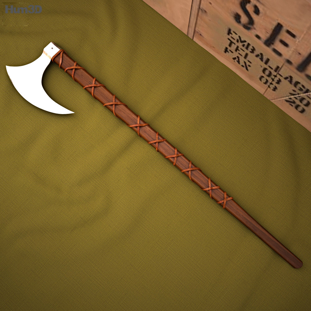 Norse Viking Axe 3d model