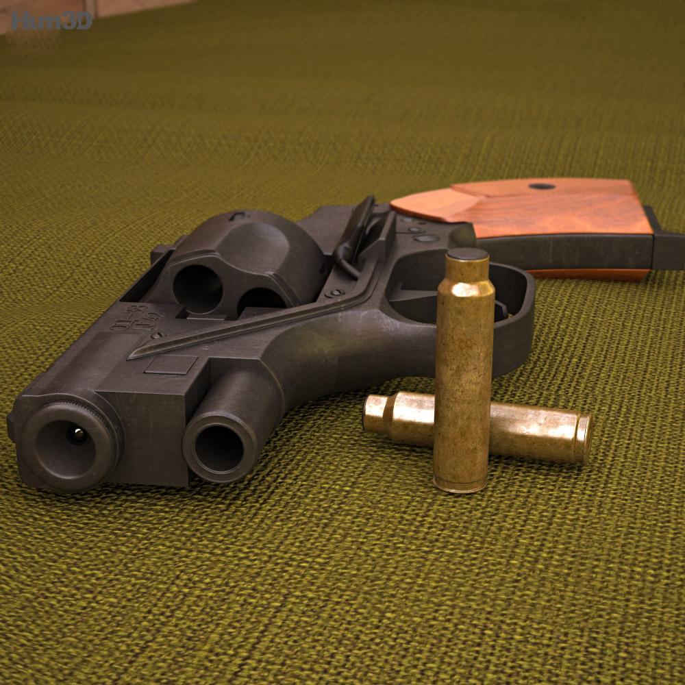 OTs-38 Stechkin silent revolver 3d model
