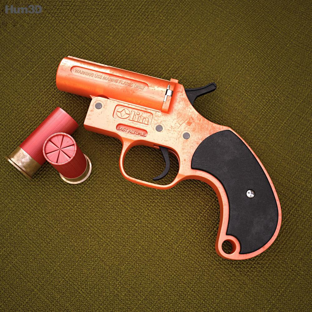 Olin Flare Gun 3d model