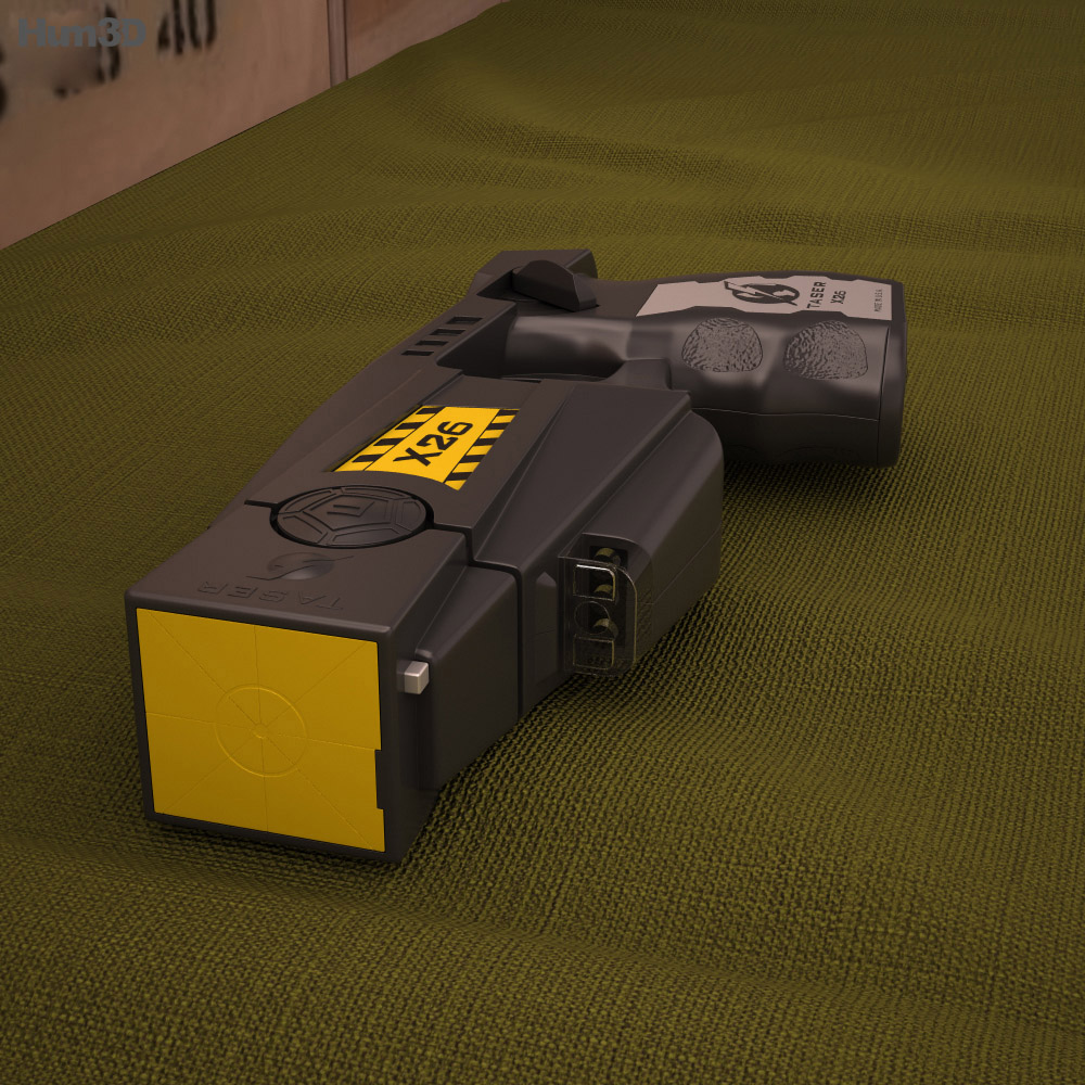 Police issue X26 Taser 3d model
