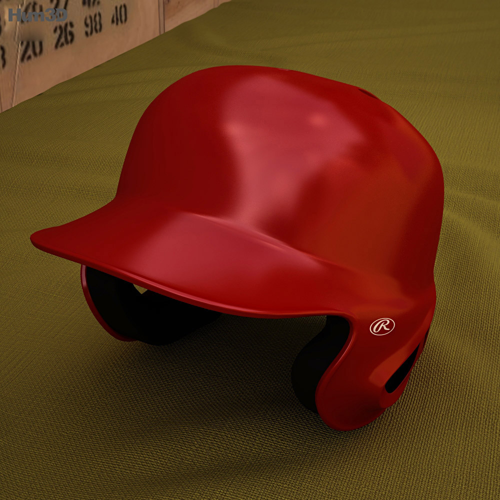 Baseball Batting Helmet 3d model