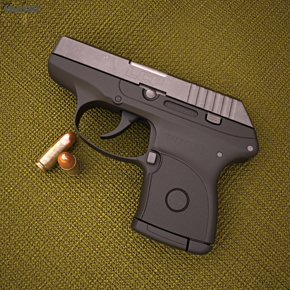 3D model of Ruger LCP