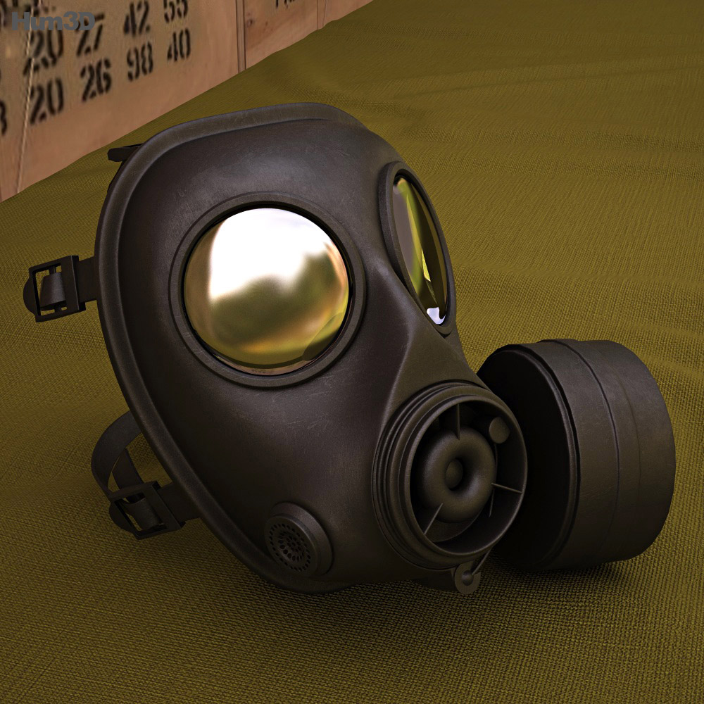 SWAT Gas Mask 3d model