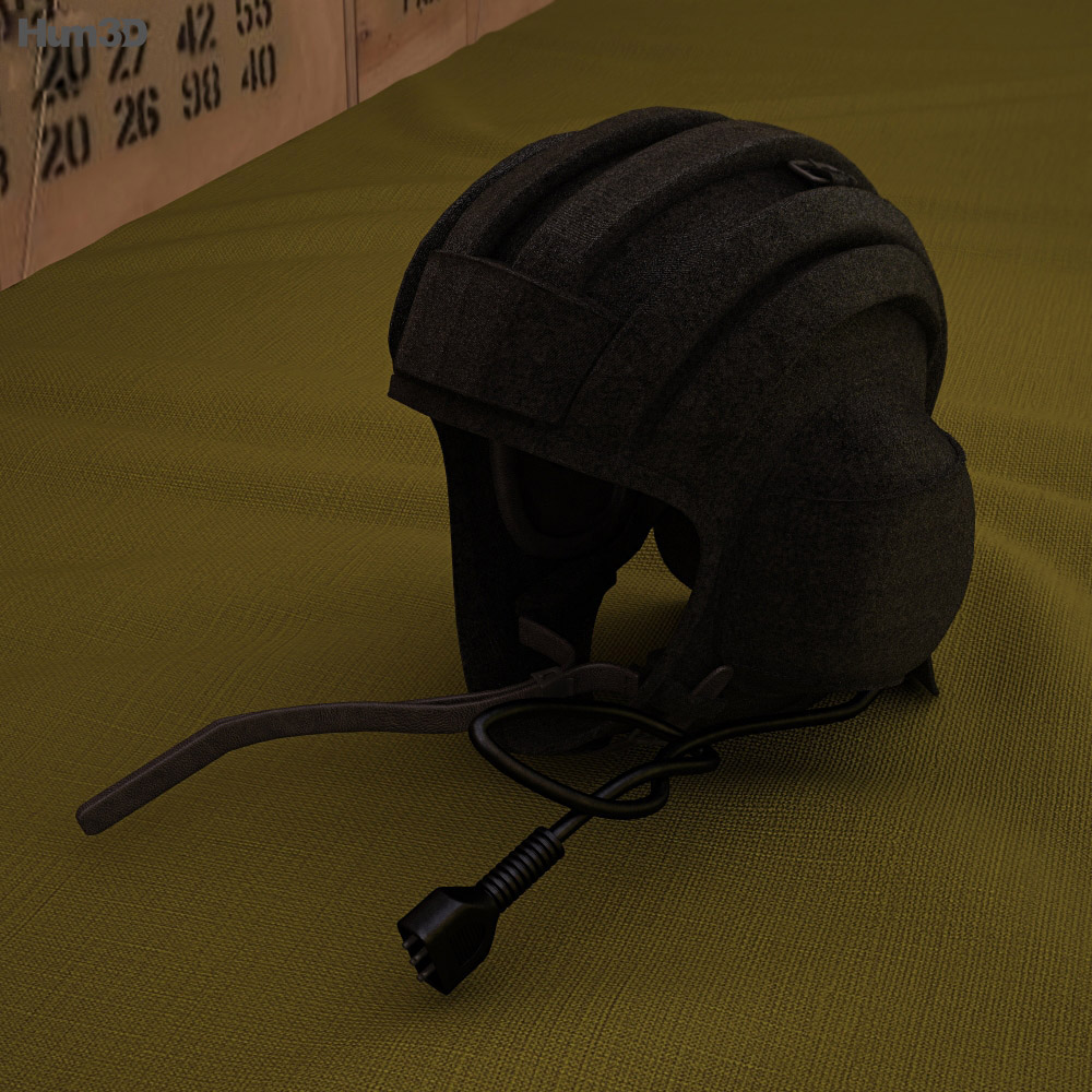 Soviet Tank Summer Helmet 3d model
