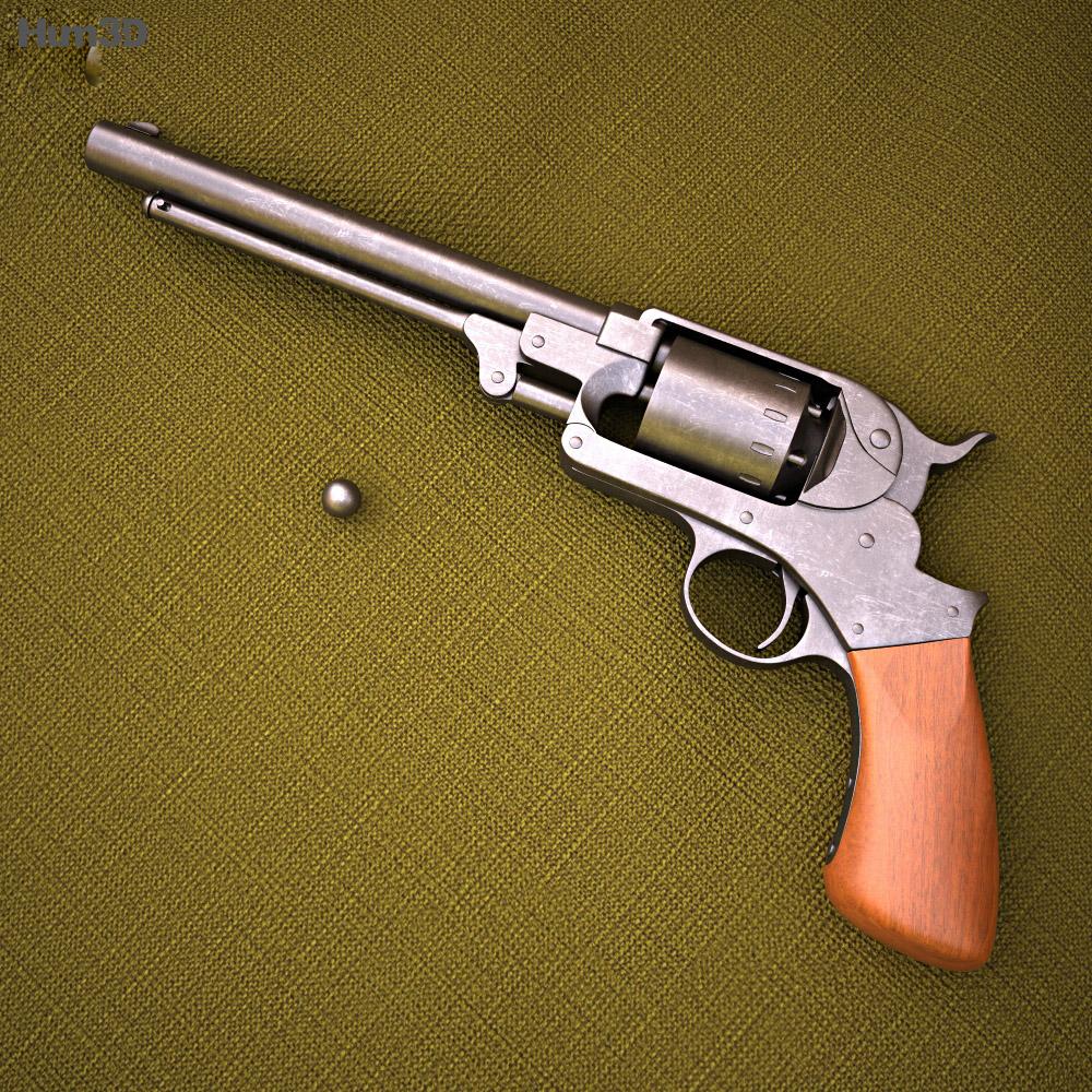 3D model of Starr revolver
