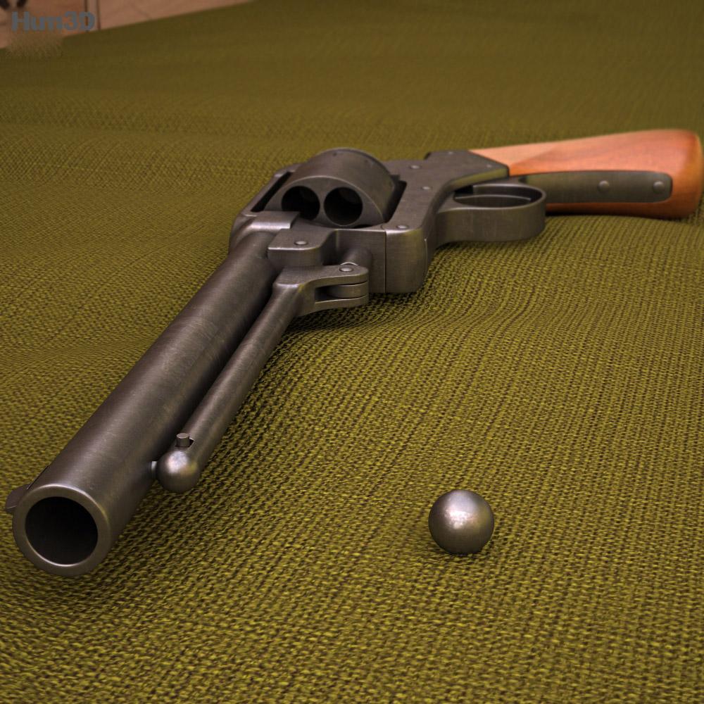 Starr revolver 3d model