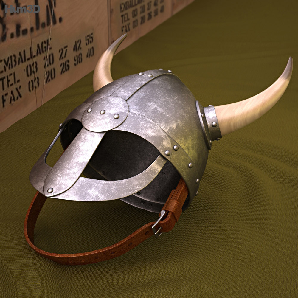 Viking Helmet With Horns 3d model