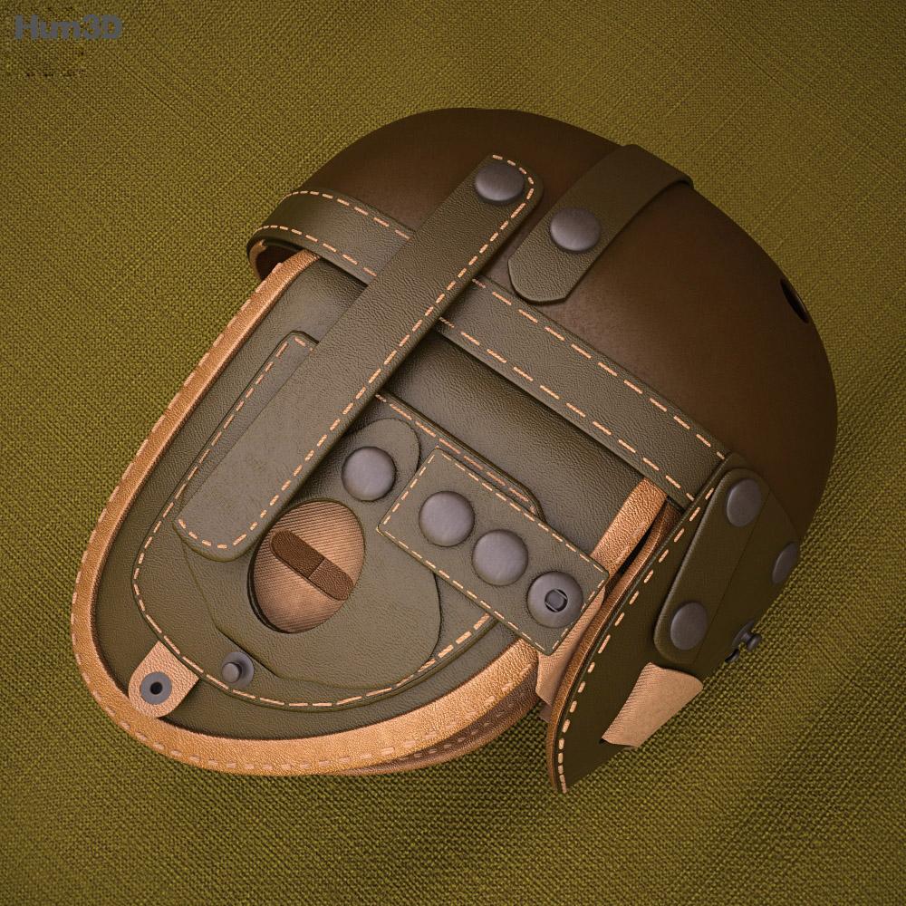 WW2 US M38 Tankers Helmet 3d model