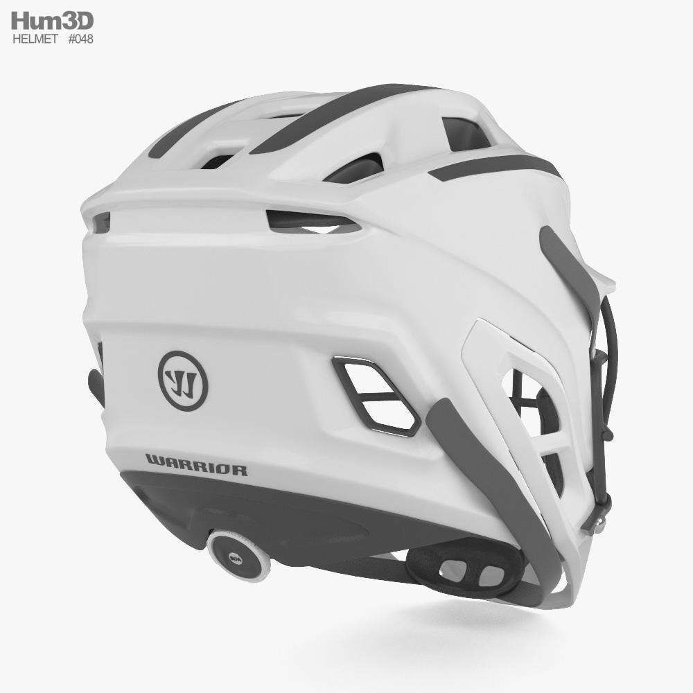 Warrior Custom Burn Lacrosse Helm 3D-Modell