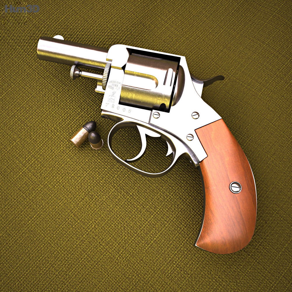 Webley British Bull Dog 3d model