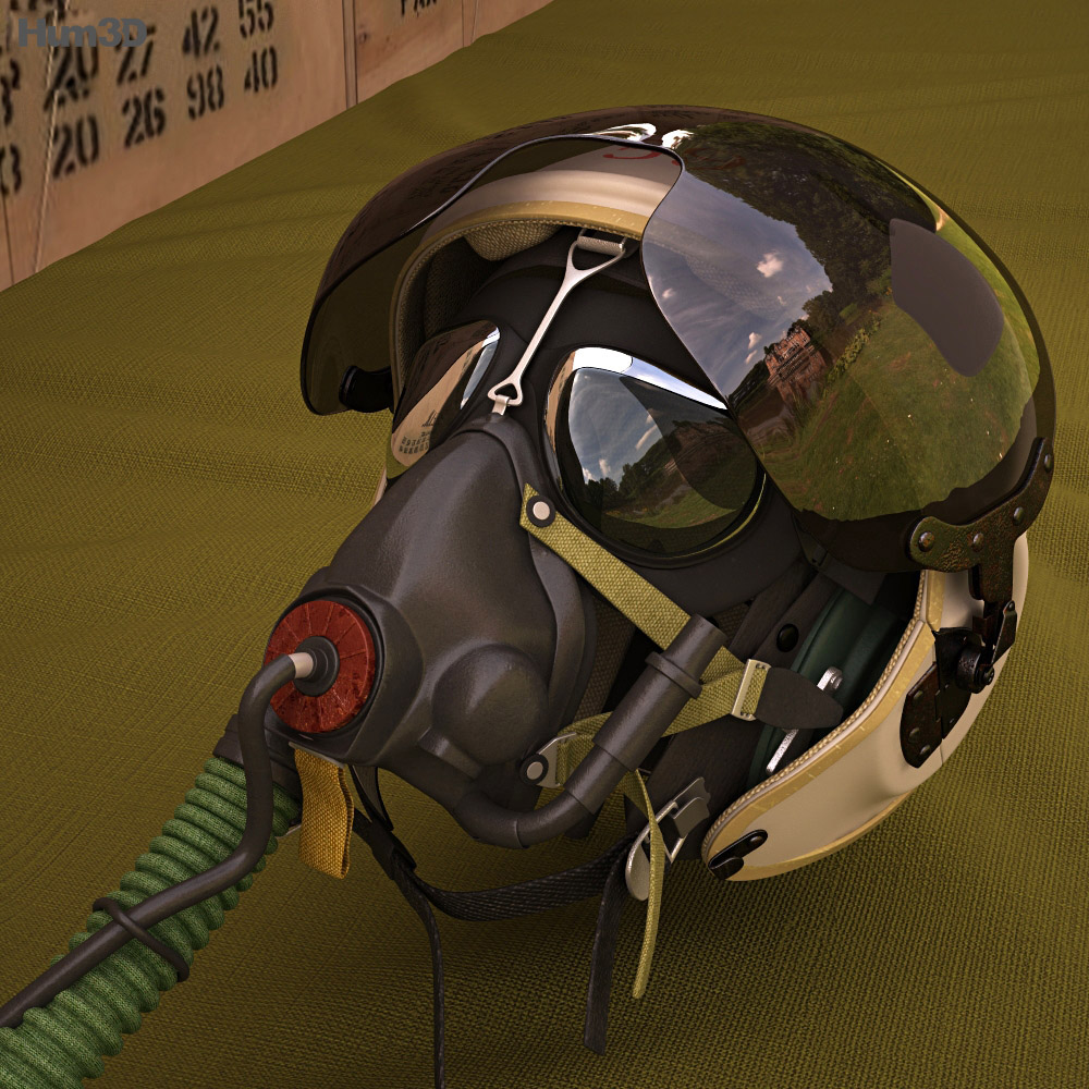 ZSh-3 Pilot Helmet 3d model