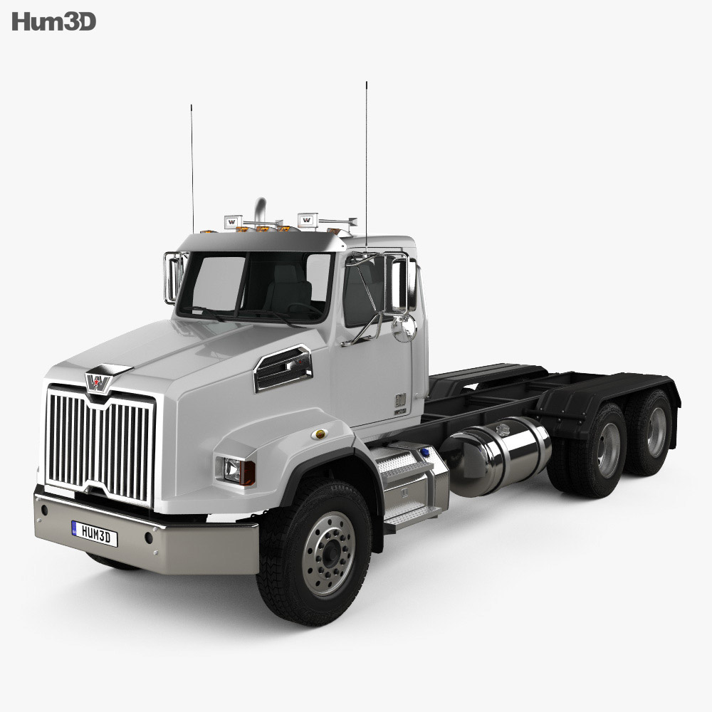 Western Star 4700 SB Day Cab Chassis Truck 2011 3d model