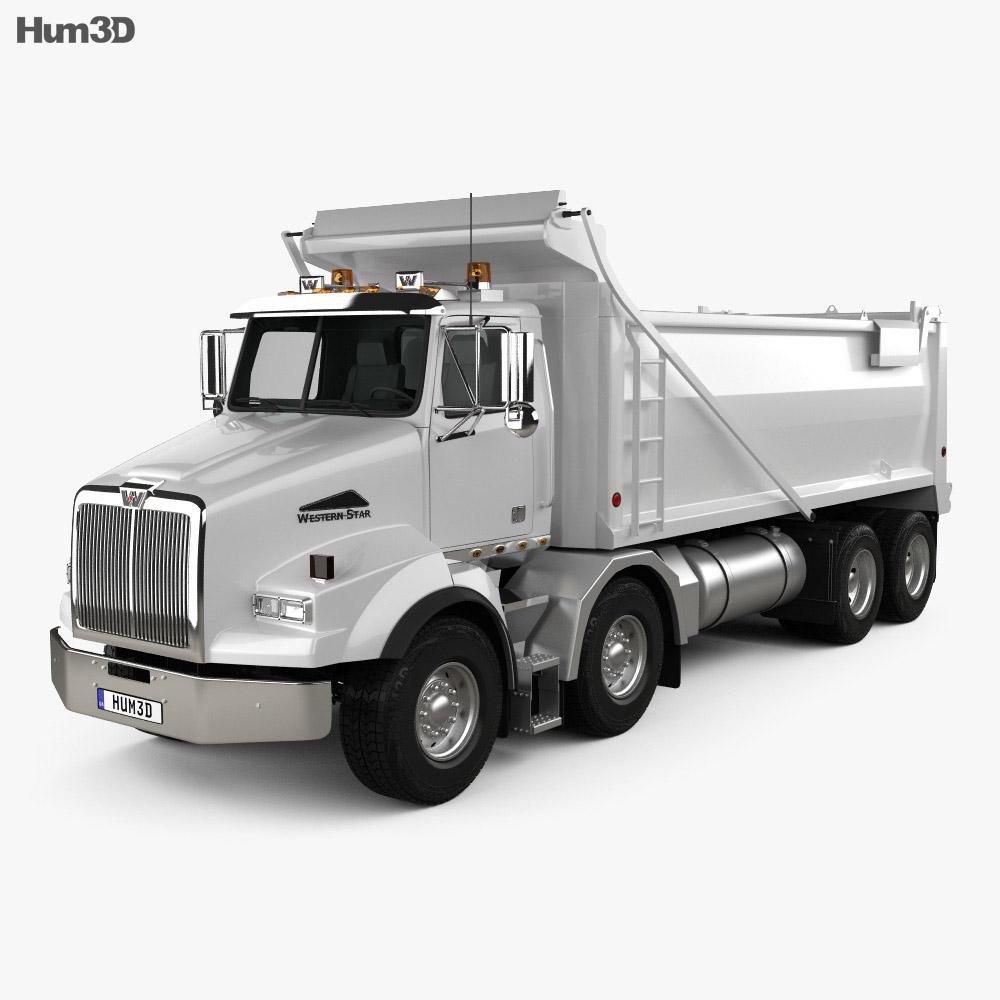 Western Star 4800 Dumper Truck 2008 3d model