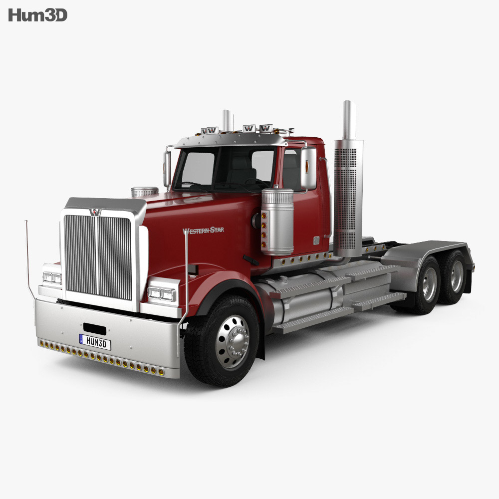 Western Star 4900 EX Tractor Truck 2008 3d model