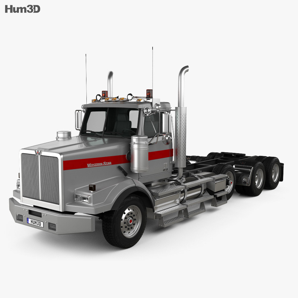 Western Star 4900 SB Day Cab Tractor Truck 2008 3d model