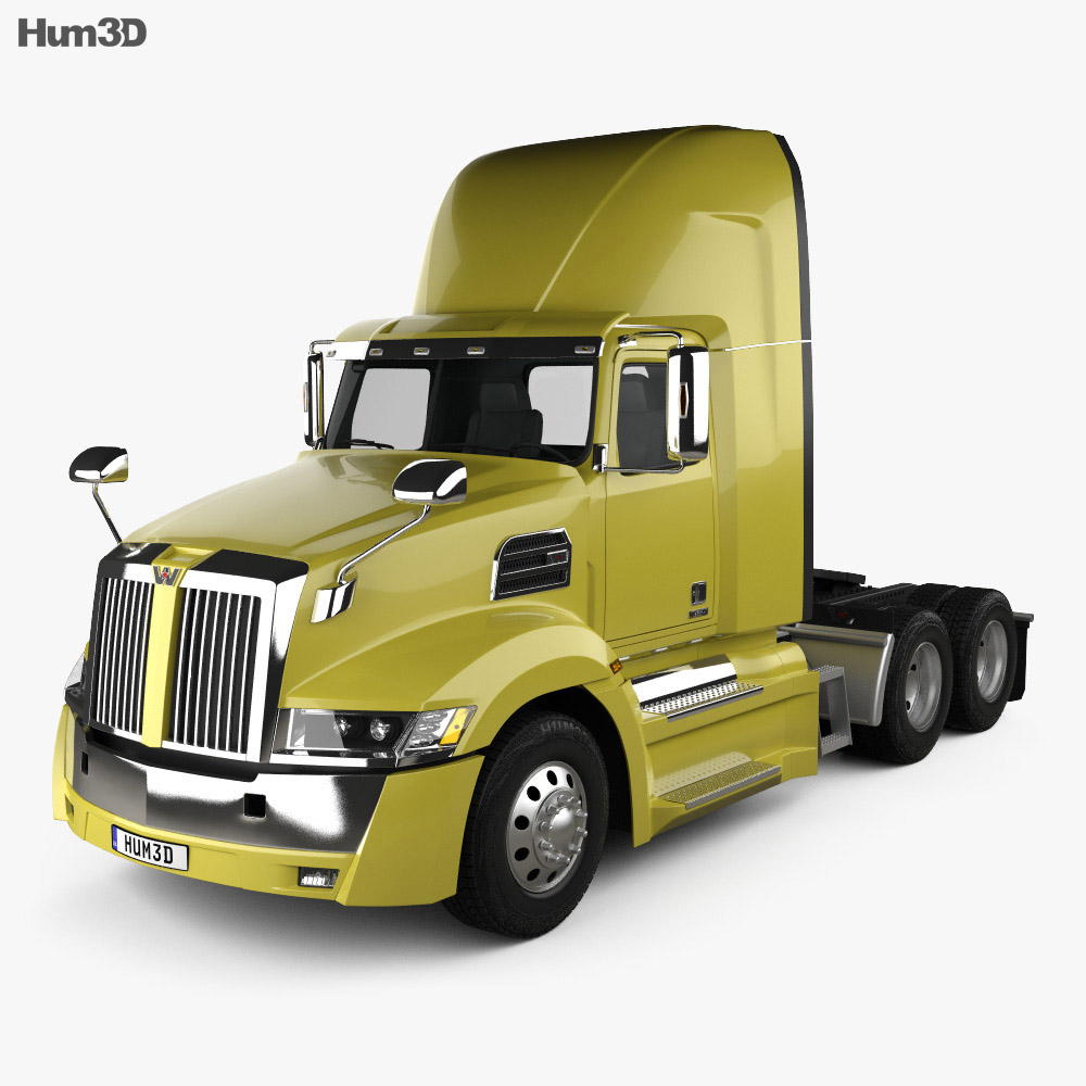 Western Star 5700XE Day Cab Tractor Truck 2014 3d model
