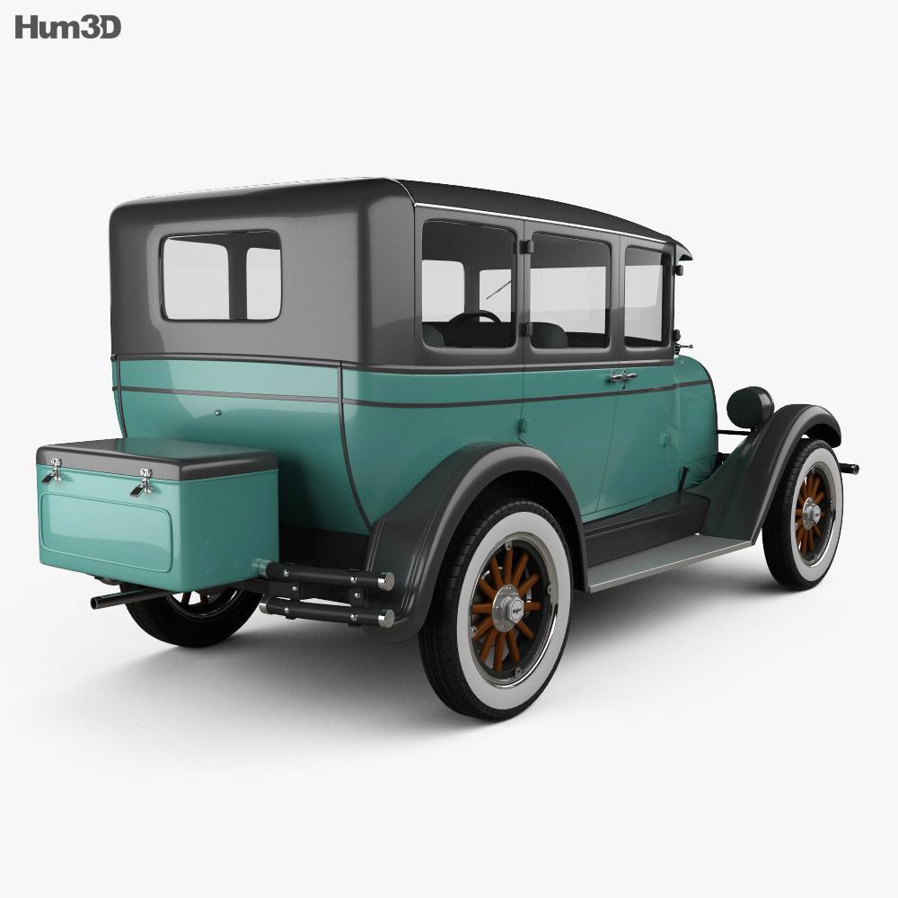 Whippet Model 96 sedan 1927 3d model