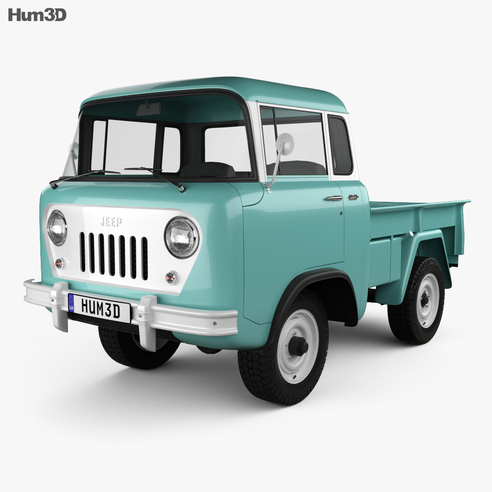Willys Jeep Fc 150 Forward Control 1957 3d Model Vehicles On Hum3d
