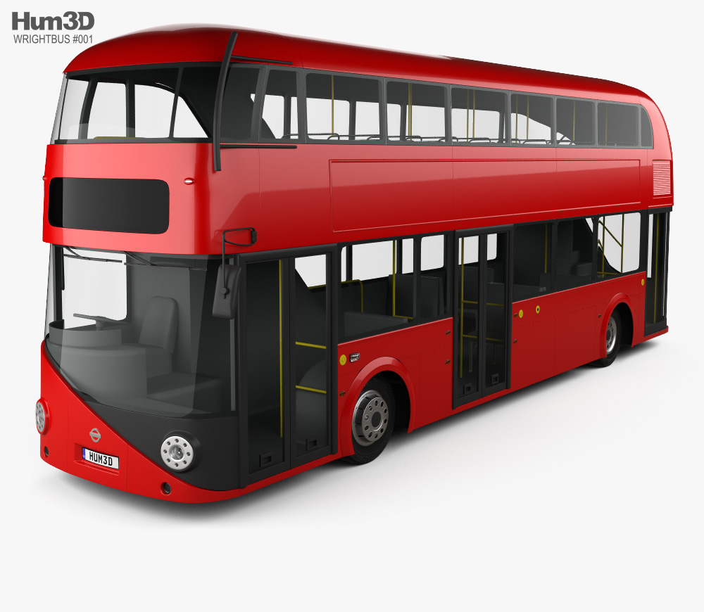 3D model of Wrightbus Borismaster 2012