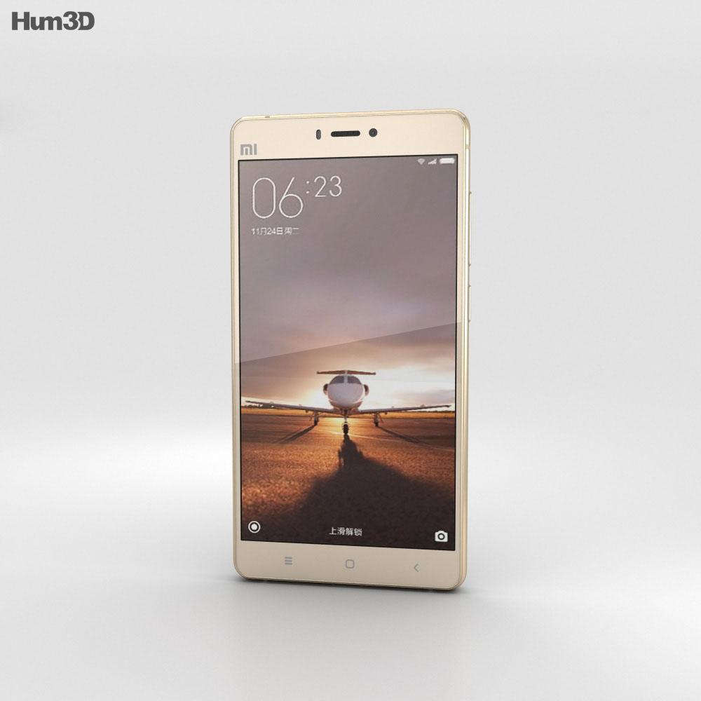 Xiaomi Mi 4s Gold 3d model