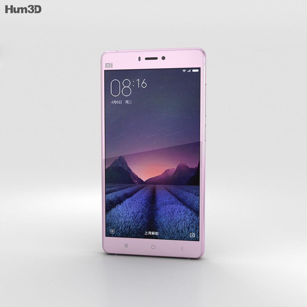 Xiaomi Mi 4s Pink 3d model