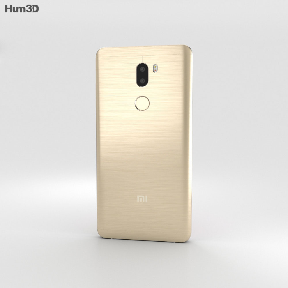 Xiaomi Mi 5s Plus Gold 3d model