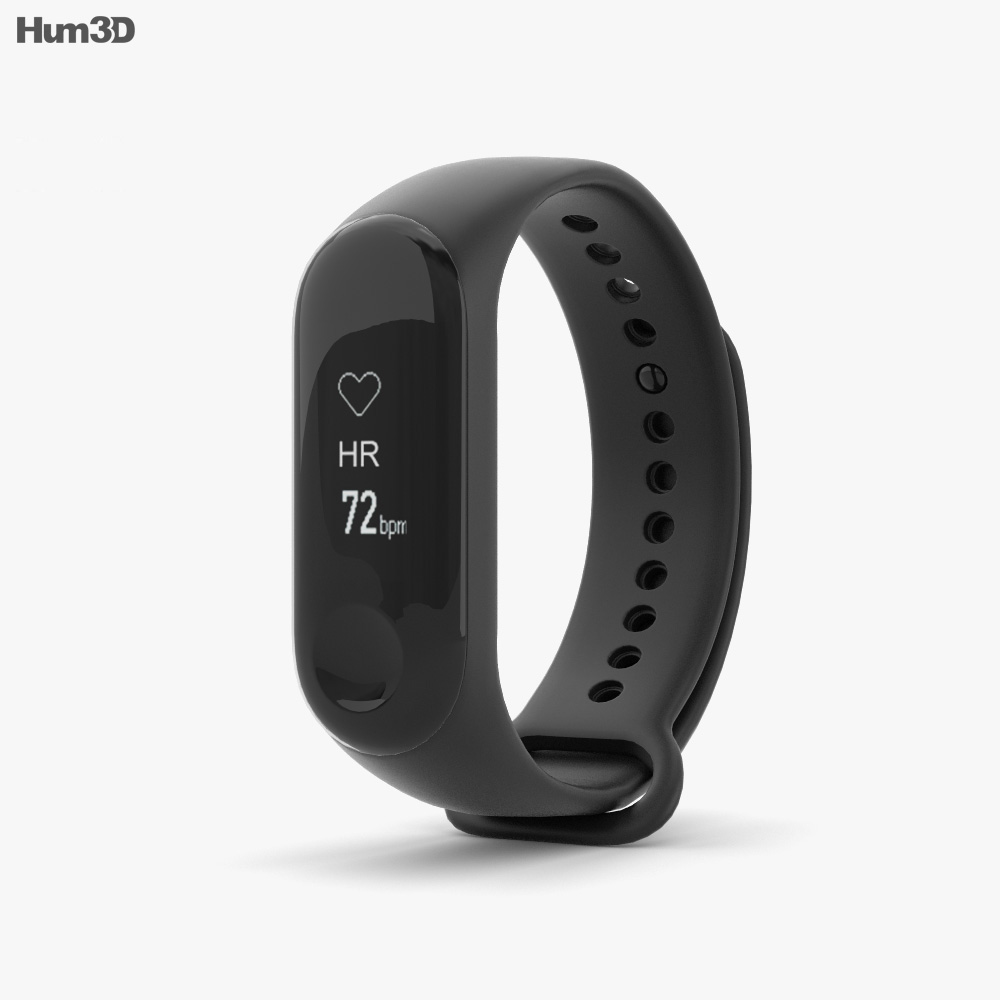 Xiaomi Mi Band 3 Graphite Black 3d model
