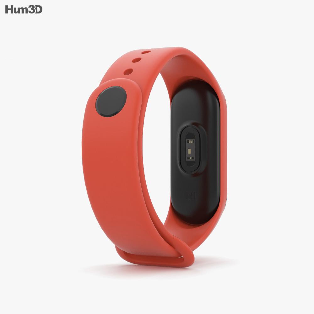 Xiaomi Mi Band 3 Hot Orange 3d model