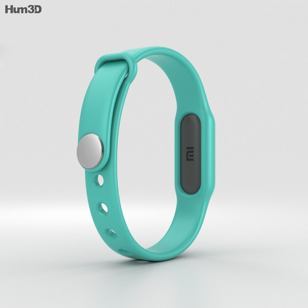 Xiaomi Mi Band Light Blue 3d model