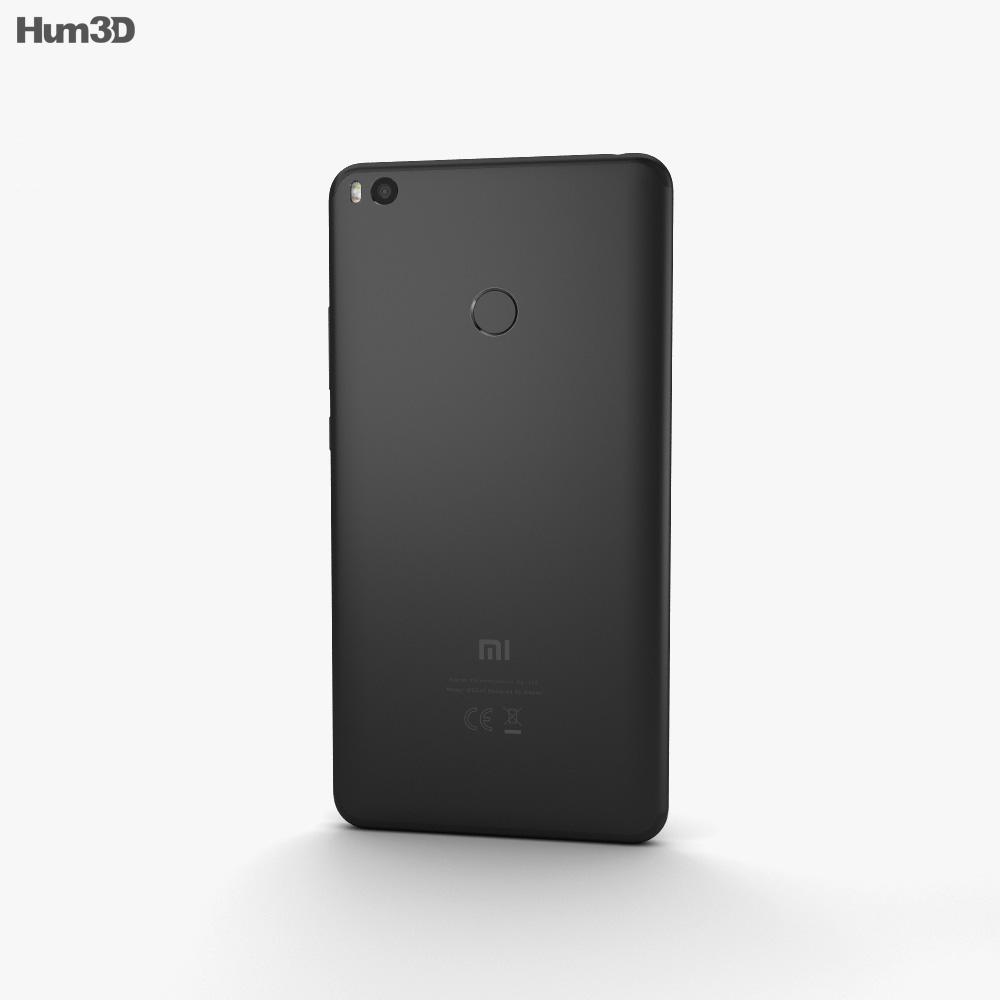 Xiaomi Mi Max 2 Matte Black 3d model