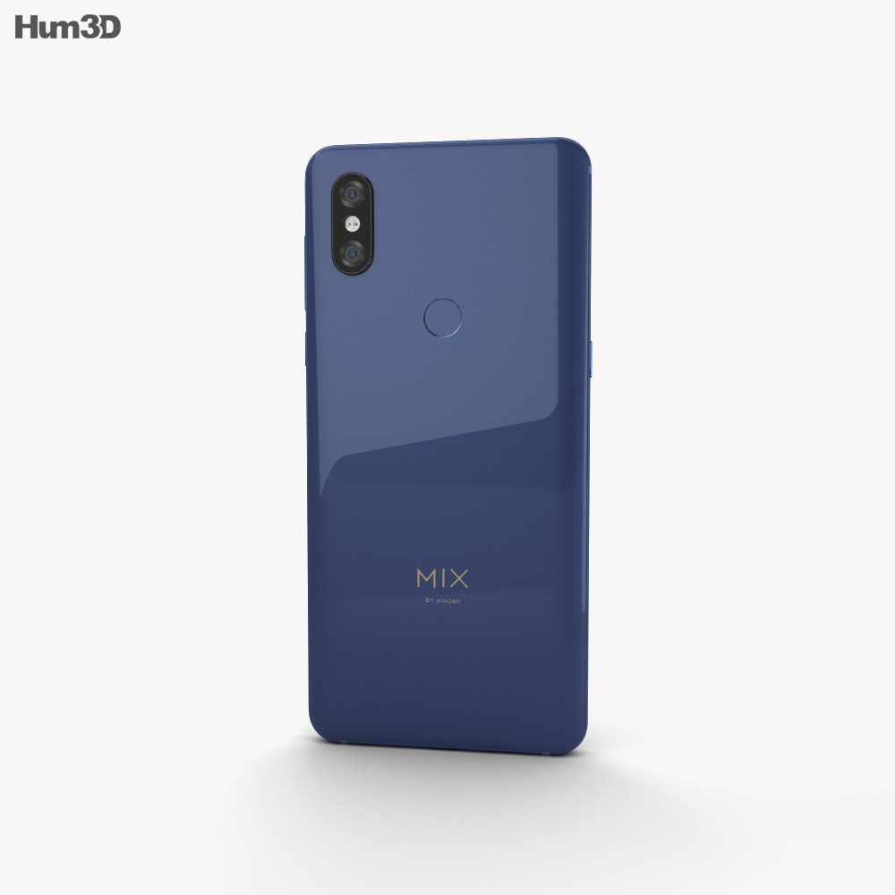 Xiaomi Mi Mix 3 Sapphire Blue 3d model