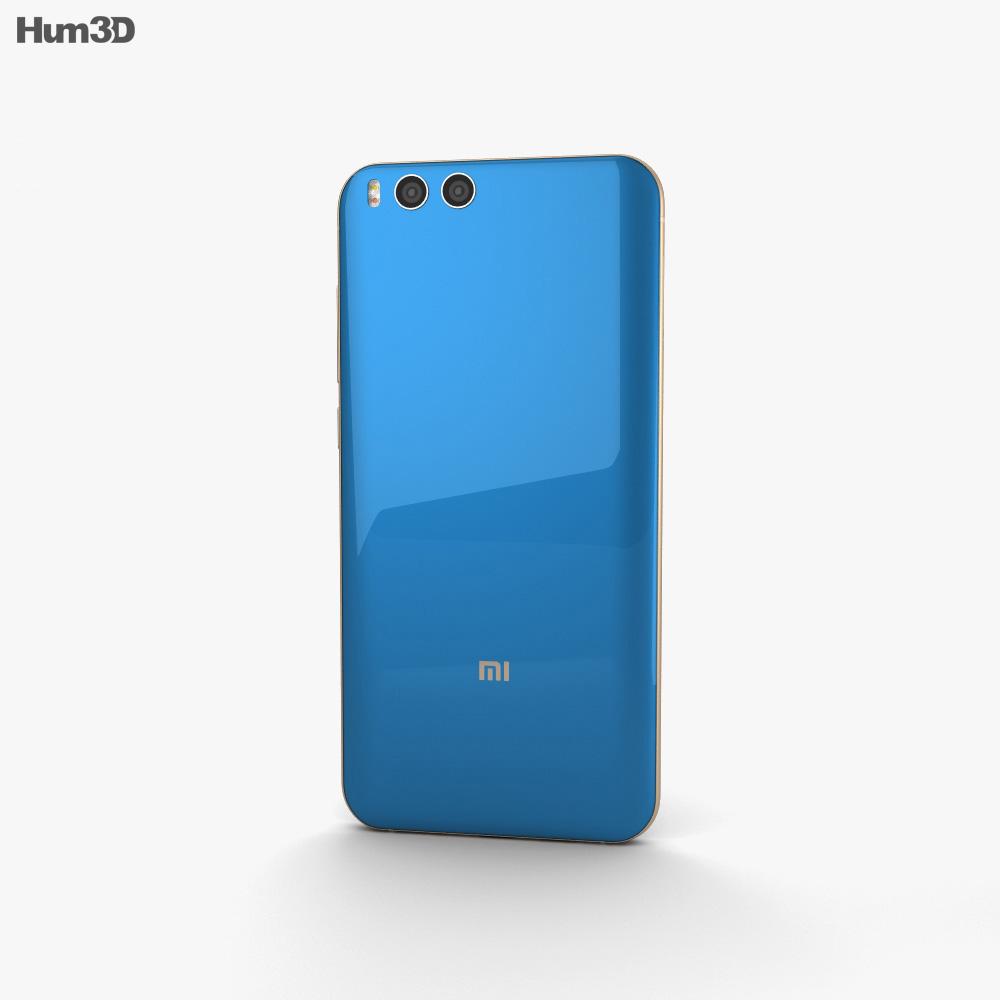 Xiaomi Mi Note 3 Blue 3d model