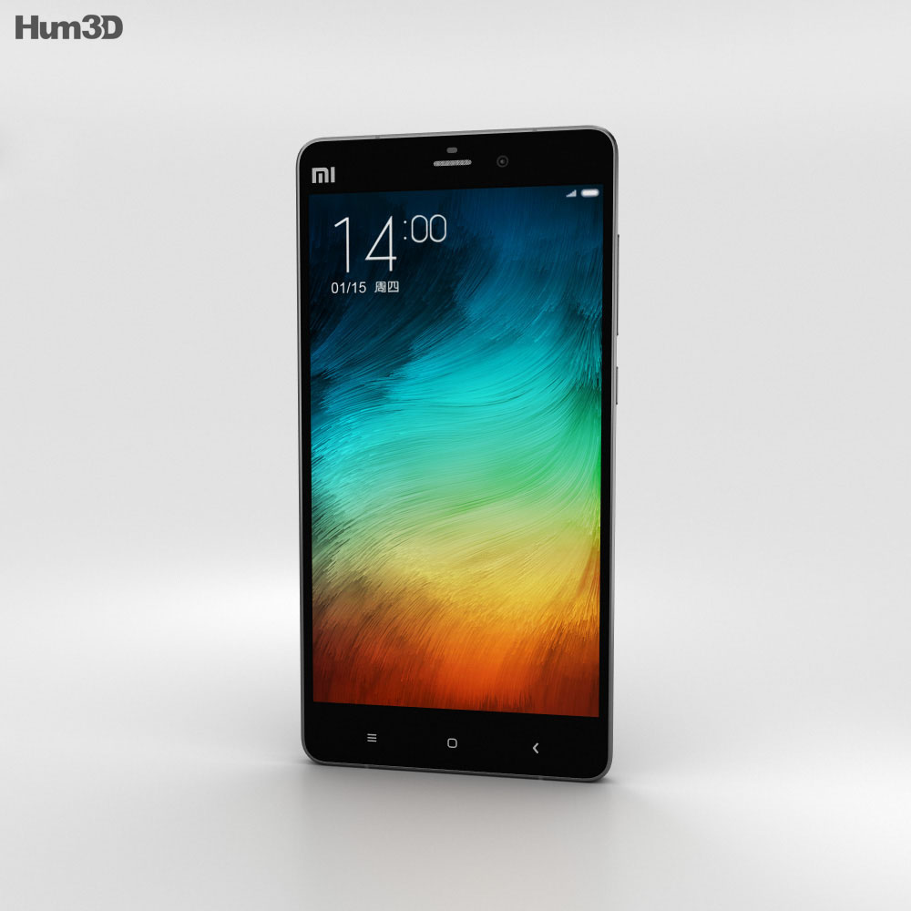 Xiaomi Mi Note Pro Black 3d model