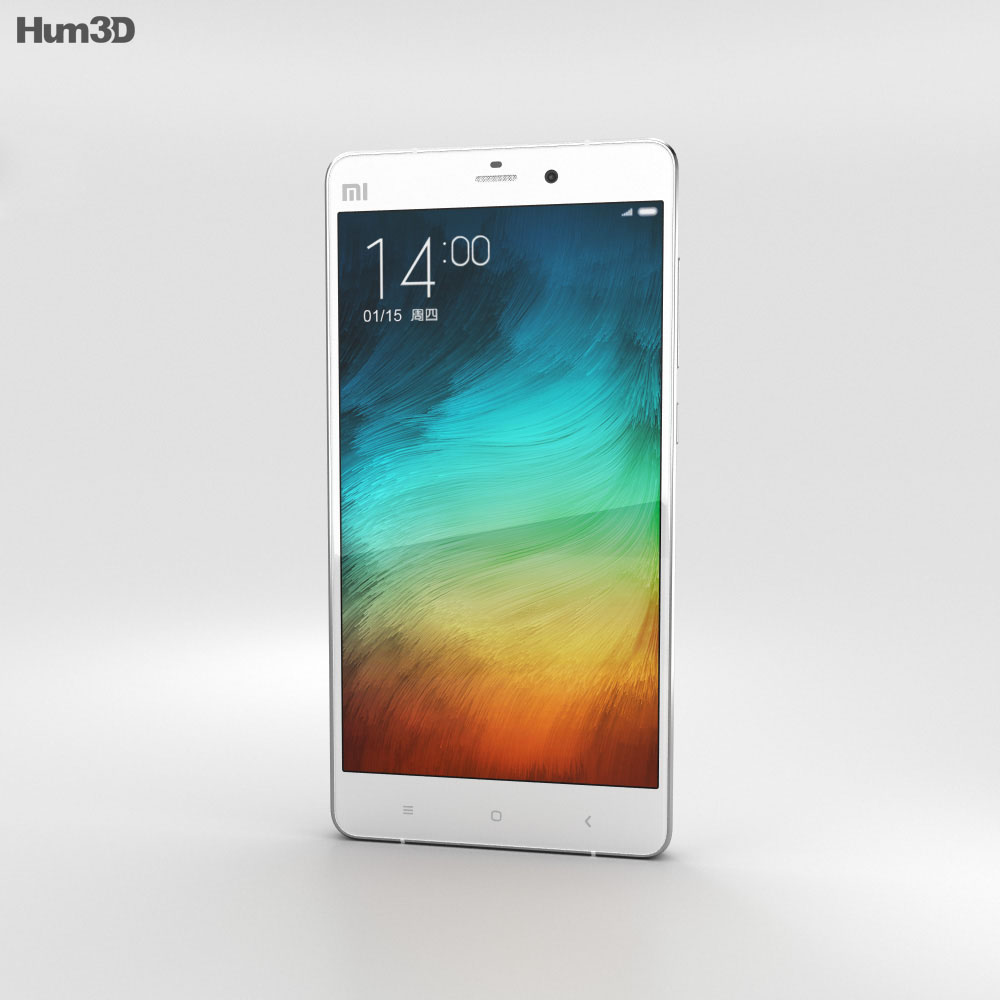 Xiaomi Mi Note Pro White 3d model