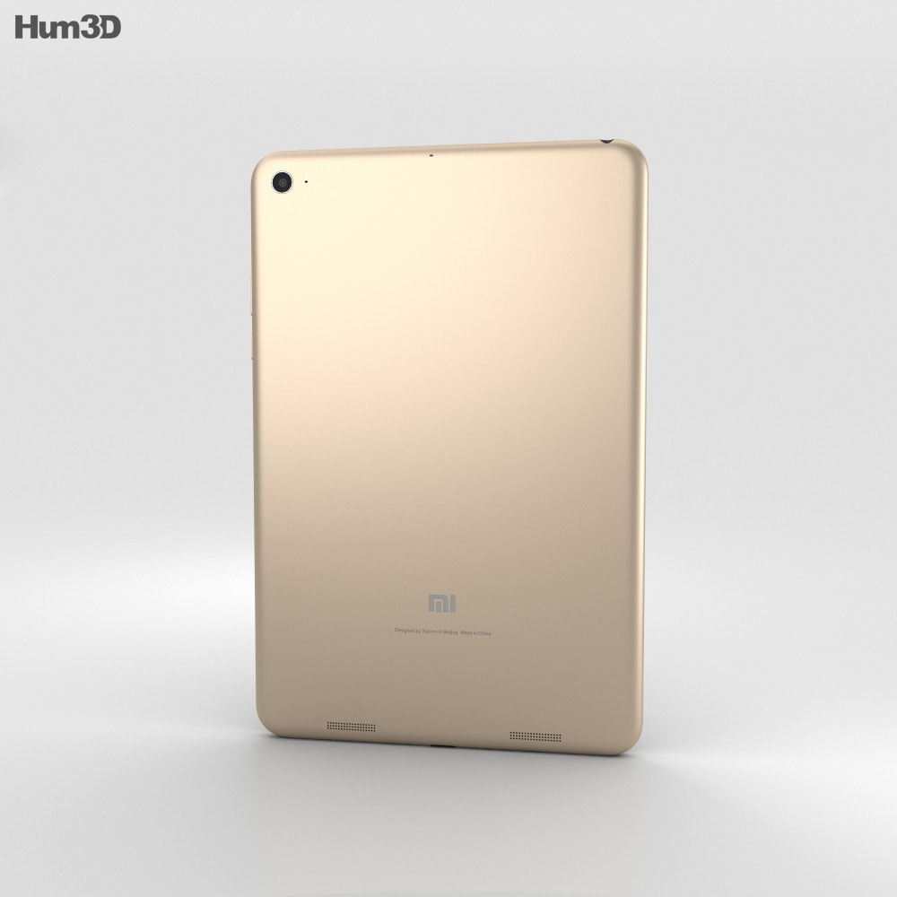 Xiaomi Mi Pad 2 Champagne Gold 3d model