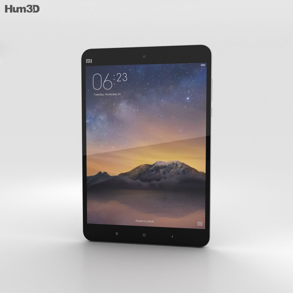 Xiaomi Mi Pad 2 Dark Grey 3d model