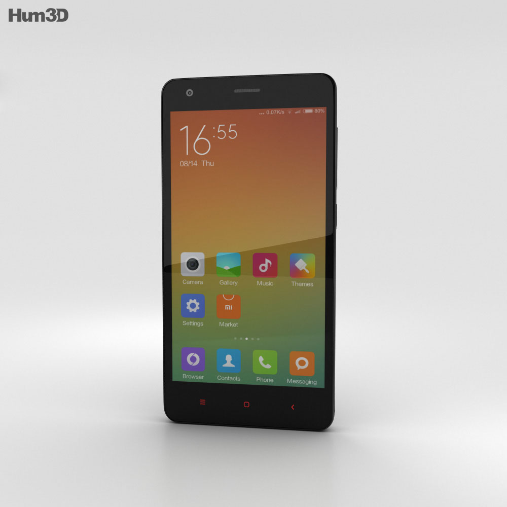 Xiaomi Redmi 2 Black 3d model