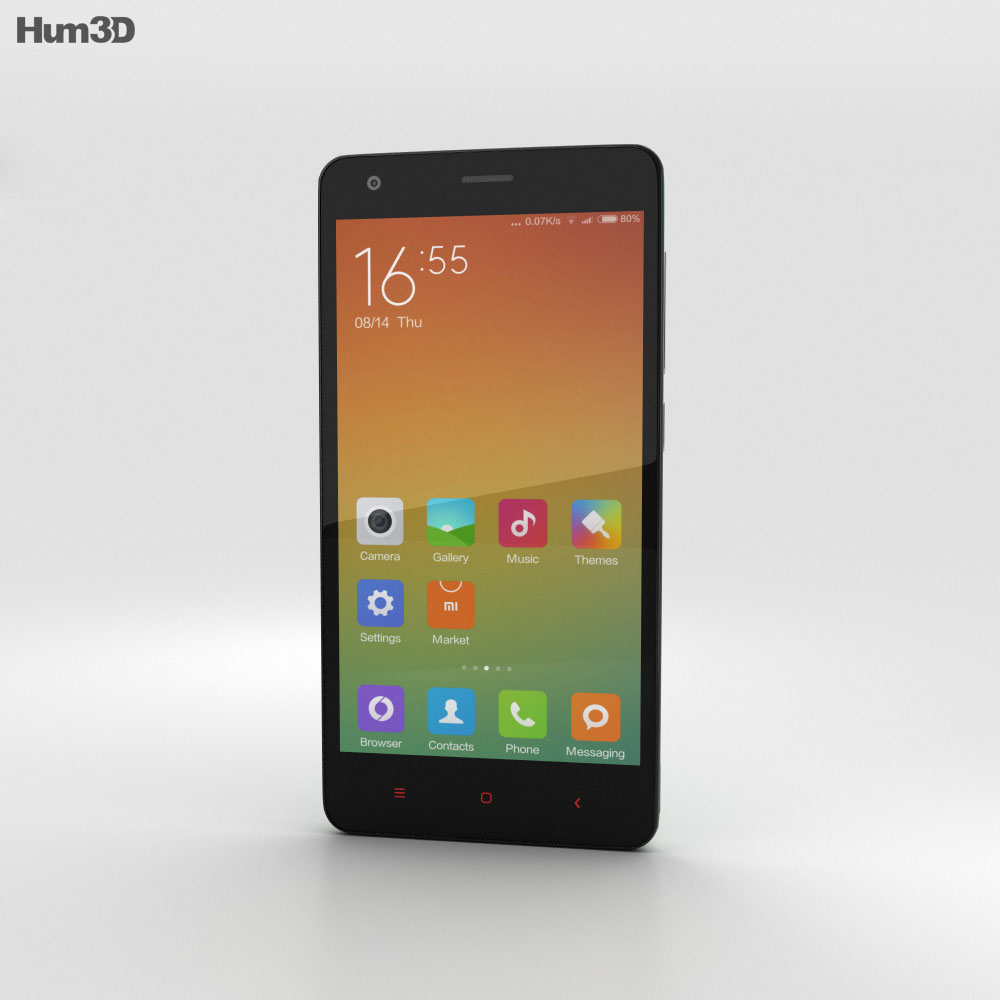 Xiaomi Redmi 2 Light Green 3d model