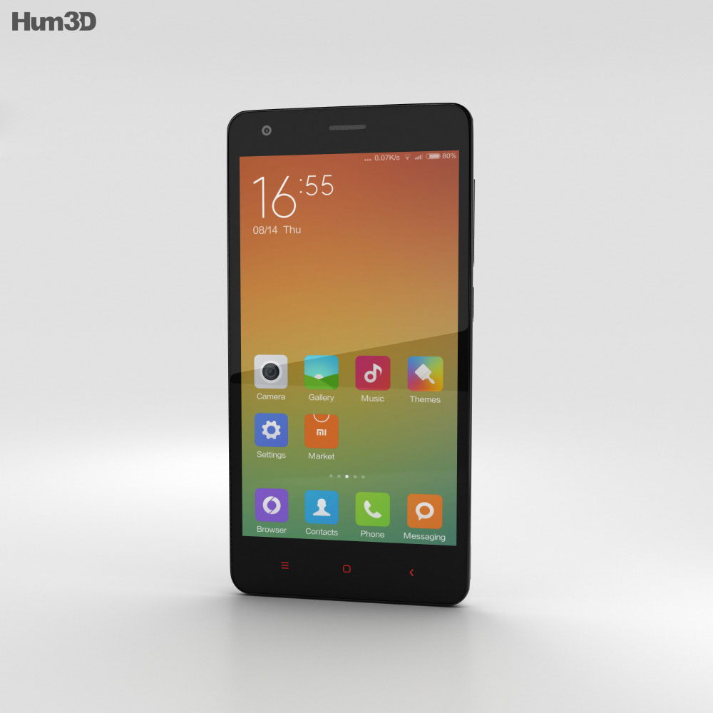 Xiaomi Redmi 2 White 3d model