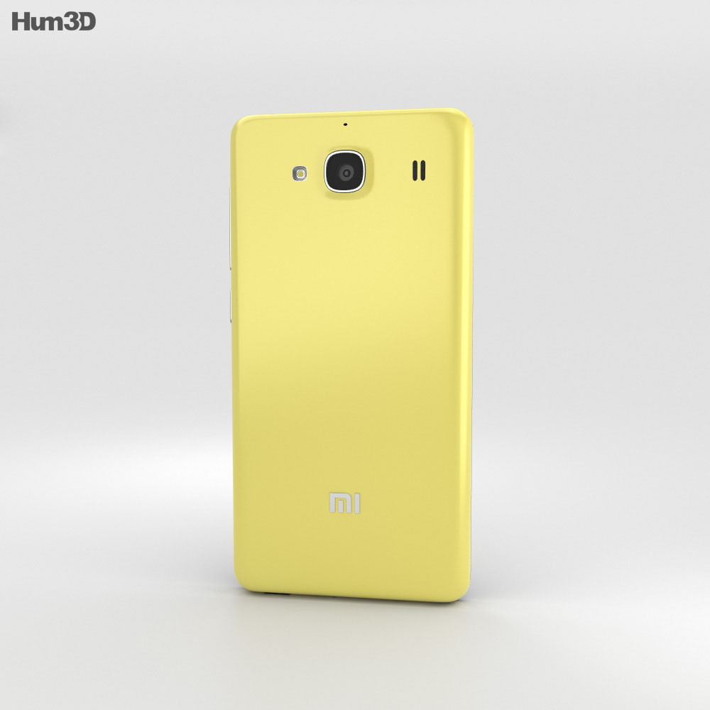 Xiaomi Redmi 2 Yellow 3d model