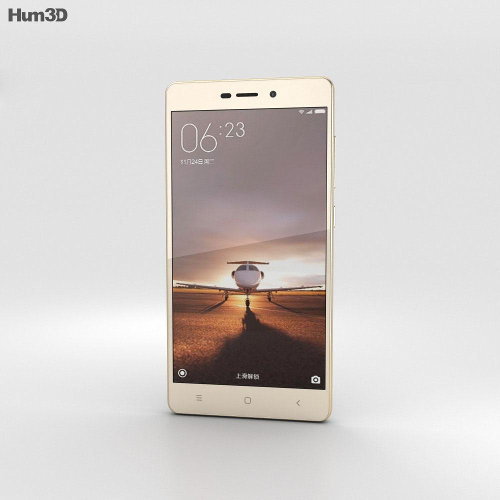 Xiaomi Redmi 3 Pro Gold 3d model