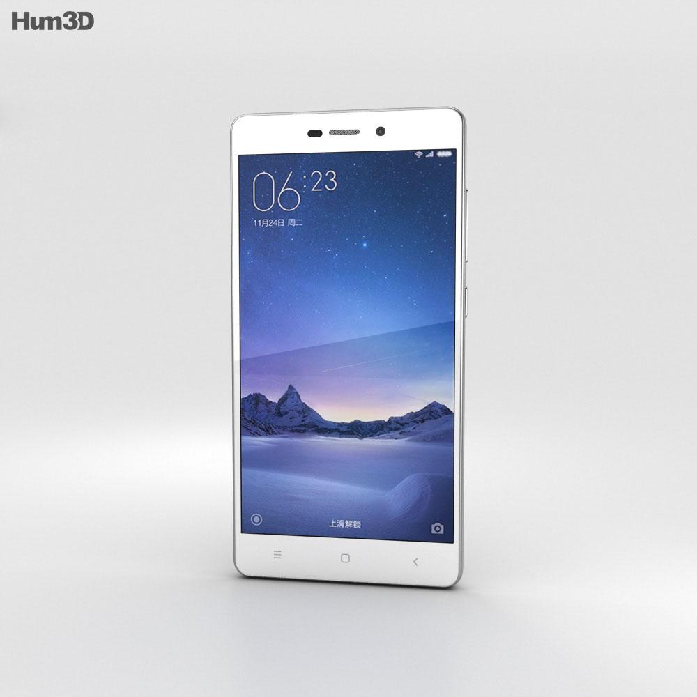 Xiaomi Redmi 3 Silver 3d model