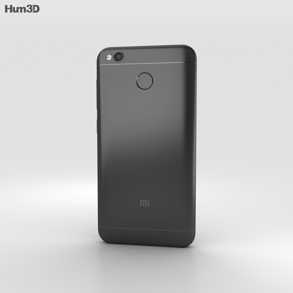 Xiaomi Redmi 4X Black 3d model