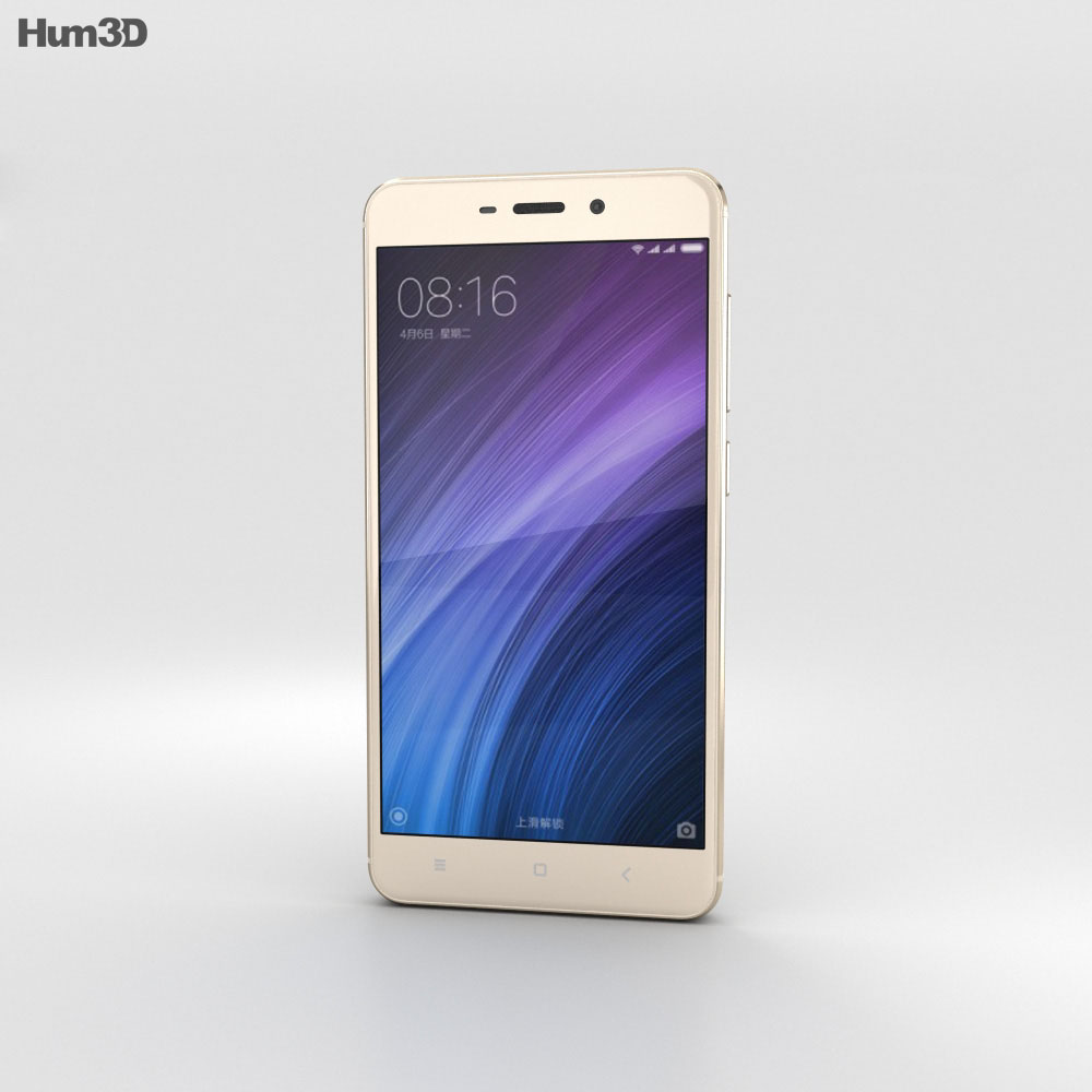 Xiaomi Redmi 4 Gold 3d model