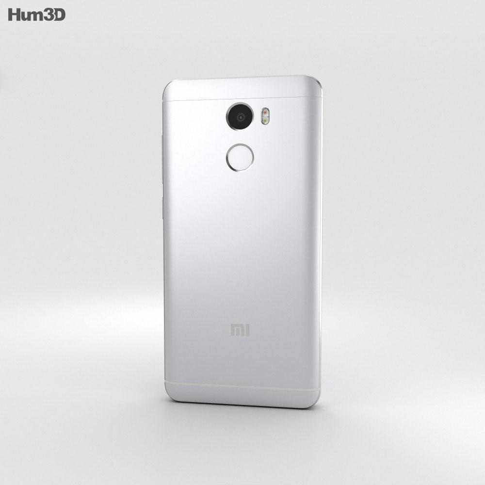Xiaomi Redmi 4 Silver 3d model