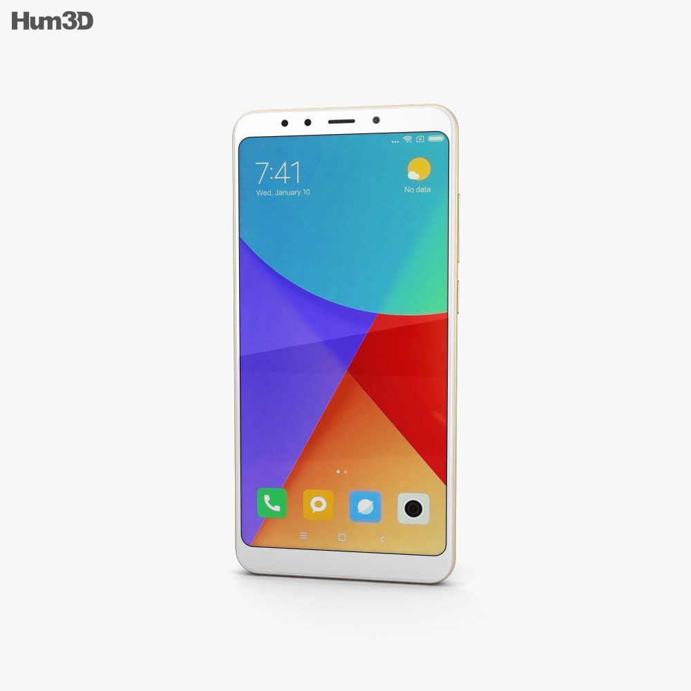 Xiaomi Redmi 5 Gold 3d model
